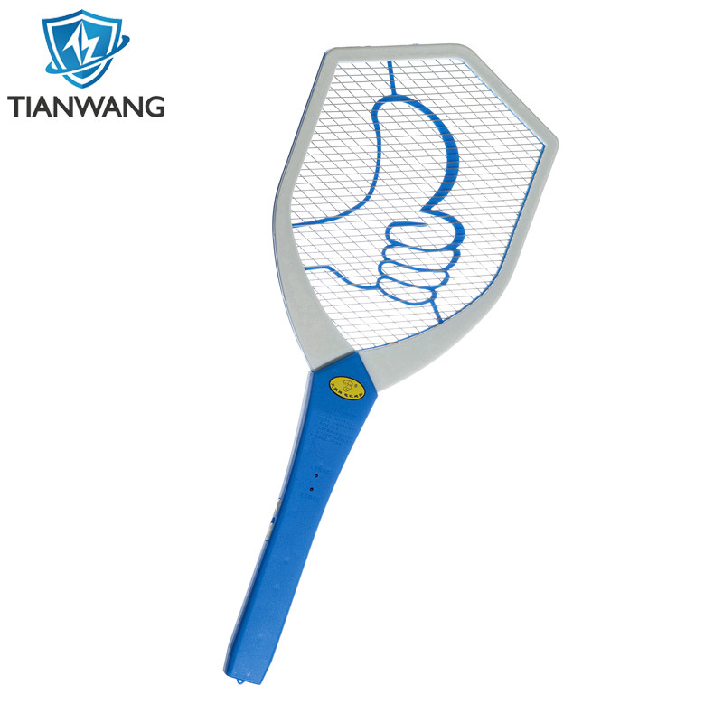 Rechargeable Electric Fly Swatter Fly Bug Zapper Racket Bright LED Light Double Layers
